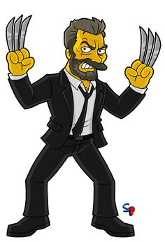 "Logan (Wolverine) from the ""Logan"" movie A requested character today, Logan, featuring a few of his different looks throughout t. The Simpsons, Simpsons Characters, Classic Cartoon Characters, Cartoon Tv, Classic Cartoons, Marvel Characters, Old Man Wolverine, Marvel Dc, Avengers"