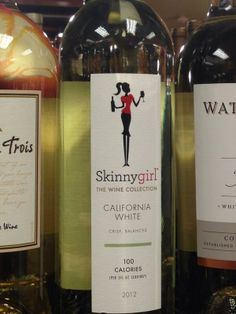 Skinnygirl(tm) Wine: 100 cal per serving. Maybe guys wouldn't mind drinking low cal wine, too? (thanks @IllMakeItMyself!)