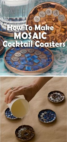 Check out how to make easy DIY Mosaic Coasters @istandarddesign