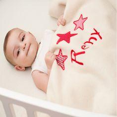 Personalised Baby cot blanket 100% pure new wool #personalisedbabyblankets #personalisedbabygifts