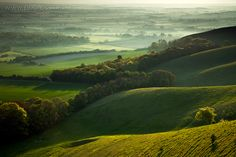 South Downs National Park, Sussex, UK. The rolling fields of the UK.