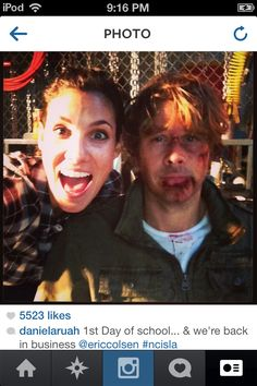 Eric Christian Olsen and Daniela Ruah (courtesy of Daniela Ruah's Instagram)