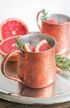 Grapefruit Rosemary Moscow Mule Cocktail