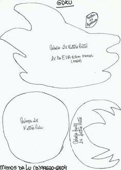 Molde Goku e Vegeta em feltro Baixar molde de feltro dos personagens do desenho animado (anime) Dragon Ball Z Goku e Vegeta