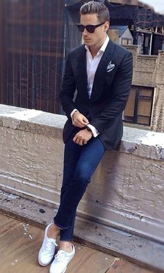 Dapper Formal Outfit Ideas To Look Sharp White Shirt Outfits, Casual Outfits, Fashion Outfits, Gentleman Mode, Gentleman Style, Mens Fashion Blog, Mens Fashion Suits, Men's Fashion, Fashion Sale