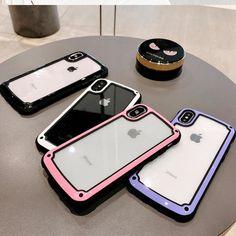 c1fca5f64 Fashion Color Plain Transparent Silicon Cover For iPhone 7 Clear Plastic PC  back case