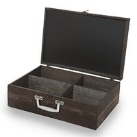 Wooden Display Box with Lid and Chalkboard - Large 14in