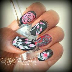 Style Those Nails: Floral Nails for Finger Food Theme : FLOWERS