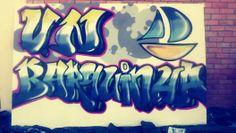 Vejam como ficou o meu primeiro graffiti com latas! Acho que para o primeiro ate n ficou mau de todo! #Rubenc