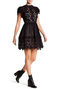 Rebecca Taylor Black Butterfly Sleeve Short Cocktail Dress Size 8 (M) Perfect Little Black Dress, Lace Dress With Sleeves, Short Cocktail Dress, Rebecca Taylor, Nordstrom Dresses, Fit Flare Dress, Dress Brands, Autumn Fashion, Butterfly