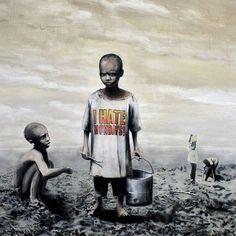 Sua segunda-feira realmente está ruim?  Arte incrível de Banksy #art #banksy #ihatemondays