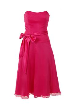 Super cute dark pink/hot pink raspberry bridesmaid dress!