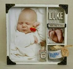This is actually a shadow box idea, but would work great for a scrapbook layout!