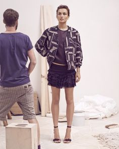 Isabel Marant Resort 2014 with Andreea Diaconu  #IsabelMarant #Resort #Cruise #2014 #AndreeaDiaconu #Collection #Lookbook #Fashion #Trend Love that look! So me.... #styleinspiratrice