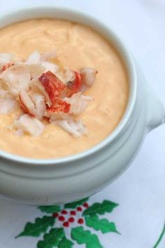 Lobster Bisque: My family enjoys beginning a special meal like that of Christmas with a comforting soup or bisque. This recipe is from the restaurant archives of my former beloved mother-in-law who...