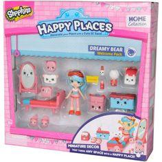 Shopkins Happy Places Welcome Pack, Bear Bedroom - Walmart.com