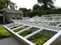 Traditional cold frames for wintering plants and flowers