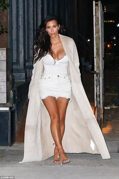 Street queen: Kim Kardashian proved she still reigns supreme as she stepped…