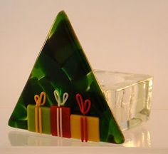 Reflections of a fused glass artist about glass art and fused glass jewelry, the creation of it and how to best display it Fused Glass Ornaments, Fused Glass Jewelry, Fused Glass Art, Glass Christmas Ornaments, Stained Glass, Christmas Decor, Christmas Trees, Slumped Glass, Dichroic Glass