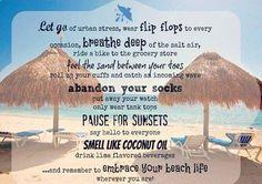 Beach commandments.