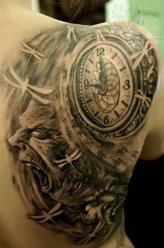 Clock Tattoo Images & Designs