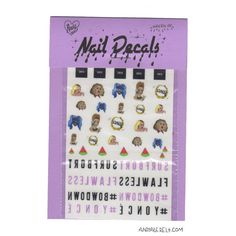 BEYONCE  waterslide nail decals  free shipping U S A  by YVNGPEARL, $8.99