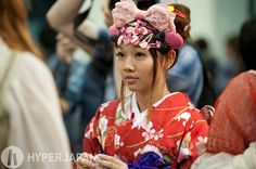 Kimono cute at HYPER JAPAN!