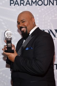 James Monroe Iglehart, winner of @The Tony Awards for Best Performance by an Actor in a Featured Role in a Musical for Aladdin, in the Paramount Hotel Winners' Room at the 68th Annual Tony Awards on June 8, 2014 in New York City. (Photo by Mike Coppola/Getty Images for Tony Awards Productions) #TonyAwards