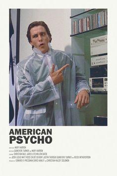 Image of American Psycho - Minimalist poster Iconic Movie Posters, Minimal Movie Posters, Horror Movie Posters, Cinema Posters, Movie Poster Art, Iconic Movies, Poster Wall, Horror Movies, Comedy Movies