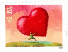 I really love USA stamp with heart
