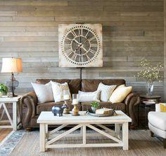 grau braun weiß farbkobinationen wandverkleidung #wohnzimmer #livingroom