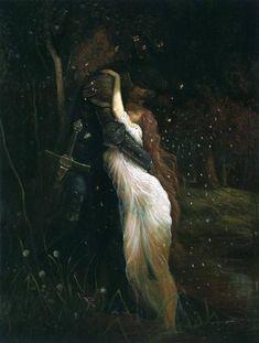 love painting picture kiss lovers fairy Woods Knight medieval sword dark knight Sansa Stark sandor clegane the hound maiden sansan