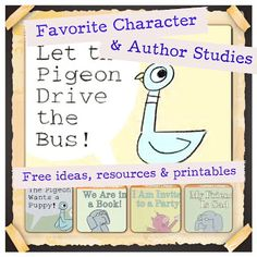 Author and Character Studies for Kindergarten and 1st grade with links, resources and activity ideas from WildRumpusSchoolHouse.