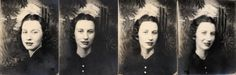 vintage photobooth photos: my grandmother
