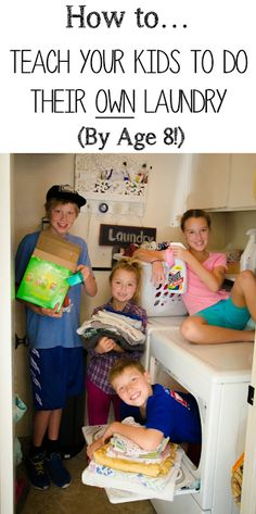 Great article! How to teach your kids to do their own laundry (HINT: It starts at age 6 with putting away their own clothes). From Money Hip Mamas.