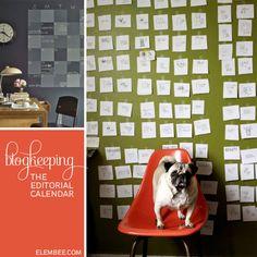 Blogkeeping // Creating an Editorial Calendar // Elembee.com