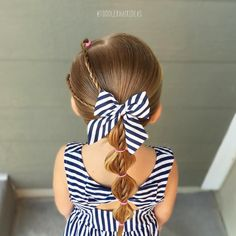 Rope twists and bubbles! Toddler hair ideas