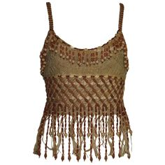 Moschino, Fairy Clothes, Couture Tops, Beaded Top, Hippie Outfits, Pretty Outfits, Crochet Top, Fashion Outfits, Fashion Design