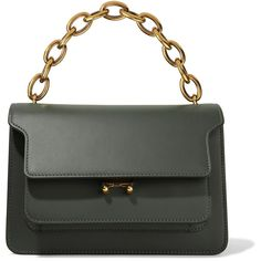 6c75eecc3619 Marni Trunk medium leather shoulder bag (12,080 AED) ❤ liked on Polyvore  featuring bags