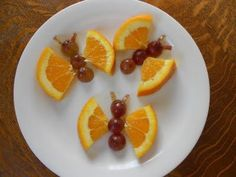 What kid (or party guest) wouldn't appreciate this?  Orange & grape butterfly fun!
