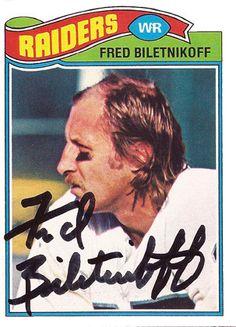 Biletnikoff is a former Ameri. Raiders Players, Oakland Raiders Football, Raiders Baby, Nfl Oakland Raiders, Canadian Football, American Football League, National Football League, Football Memes, Football Cards