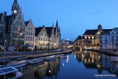 Is this a fairytale?  No, it's Ghent, Belgium. I need to go there.