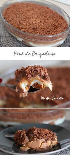 Pave Brigadeiro, made with delicious and simple ingredients that we usually have at home. Chocolate Flavors, Chocolate Recipes, Food Porn, Good Food, Yummy Food, Sweet Recipes, Food And Drink, Dessert Recipes, Favorite Recipes