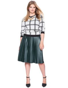 View our Studio Pleated Faux Leather Midi and shop our selection of designer women's plus size Skirts, clothing and fashionable accessories. Plus Size Skirts, Full Skirts, Weekend Style, Midi Skirt, Fashion Accessories, Feminine, Black Forest, Studio, Formal
