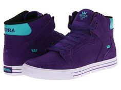 Supra Vaider Skate Shoes - Purple/Teal
