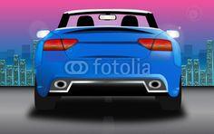 #audi #auto #car #night #skyline #vector