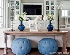 Image result for tufted blue ottoman