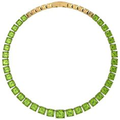 Unique Necklaces, Beautiful Necklaces, Jewelry Necklaces, Vintage Necklaces, Peridot Jewelry, Peridot Necklace, Yellow Stone Rings, Golden Ring, Gold For Sale