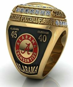 "Championship Fan Ring for the real Bama Fanatic.  May need 16 of these! Check this out too ~ RollTideWarEagle.com for SEC Football stories that we call ""Infotainment."" #Alabama #RollTide #Bama"
