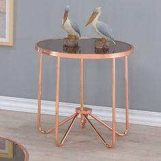 ACME Alivia Smoky Glass End Table - 81842